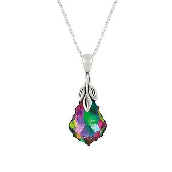Eternal Collection Baroque Electra Austrian Crystal Sterling Silver Pendant Necklace