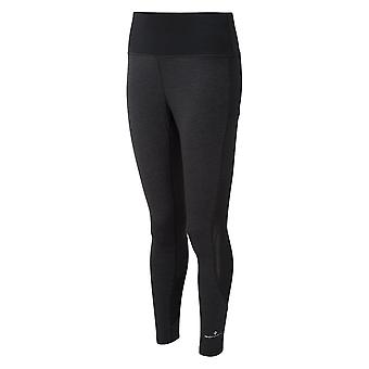 Ronhill Momentum Agile Womens Breathable & Sweat Wicking Running Tights Holzkohle Marl/schwarz