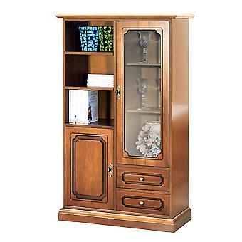 1 puerta gabinete de vidrio 1 puerta de madera