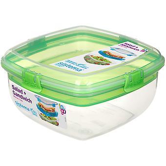 Sistema Salad and Sandwich To Go, Lime Green