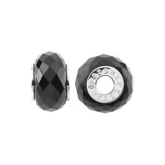 Storywheels zilver & Onyx Charm S434ON