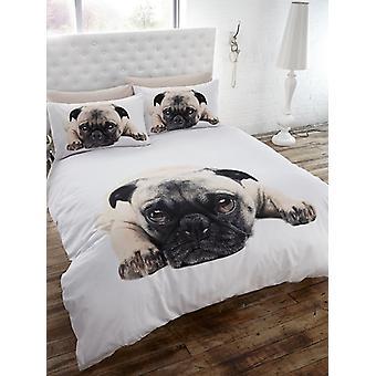 Mops Bettbezug und Kissenbezug Set