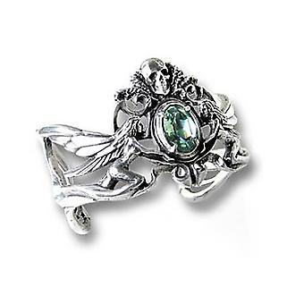 Alchemy Gothic La Fleur De Baudelaire Pewter Bracelet