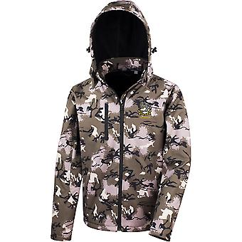 Kings Regiment Liverpool Veteran - Licensed British Army Embroidered Performance Hooded Camo Softshell Jacket