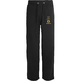 Royal Irish Fusliers Veteran - Licensed British Army Embroidered Open Hem Sweatpants / Jogging Bottoms