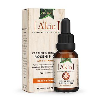 A'kin Brightening Rose hip oil Vitamin C Facial Natural Australian Face Skincare
