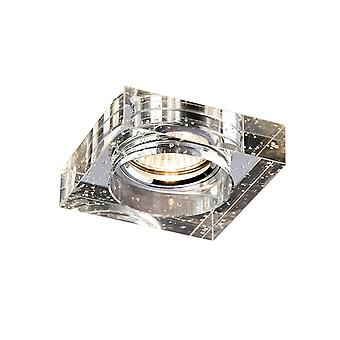 Diyas Crystal Bubble Downlight Square Rim Only Clear, IL30800 Required To Complete The Item