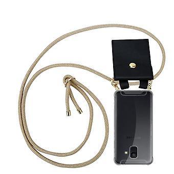 Cadorabo Funda de cadena de teléfono para Samsung Galaxy A6 2018 Funda de la caja - Collar caso de hombro de silicona con cordón de cinta y cubierta de la funda de la caja de la caja extraíble