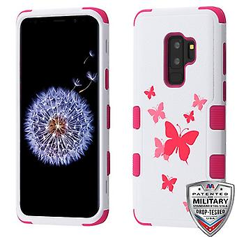 MYBAT Butterfly Dancing/Hot Pink TUFF Hybrid Phone Protector Cover for Galaxy S9 Plus