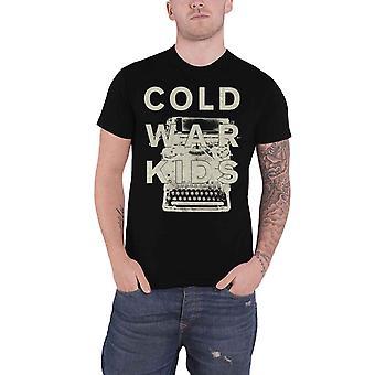 Guerra fria Kids T-shirt máquina de escrever banda logo novo oficial Mens preto