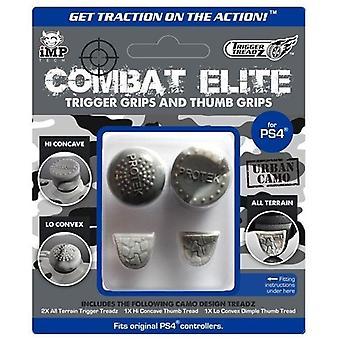 Laukaisu treadz: Combat Elite peukalo & Trigger kahvat Pack-kaupunkien Camo (PS4)