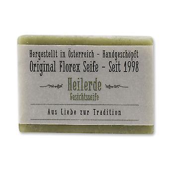Florex Kaltgerührte Seife Heilerde speziell für Mischhaut und empfindliche Haut reinigt schonend (ohne Palmöl) 100g