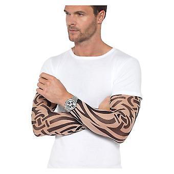 Ανδρικά τατουάζ χέρι μανίκια 2 ανάμεικτο φανταχτερό φόρεμα αξεσουάρ