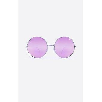 Quay Australia Dynasty Sunglasses - Silver/Pink