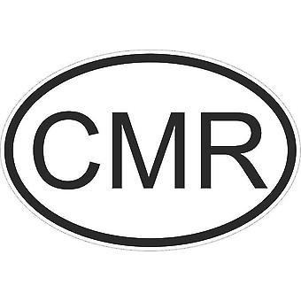 Aufkleber Aufkleber Aufkleber Aufkleber Flagge Oval Code Land Auto Kamerun Coamerounais Cmr