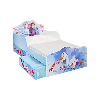 Disney Frozen 2 Toddler Bed with Storage Plus Fully Sprung Mattress