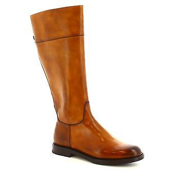 Leonardo schoenen vrouwen ' s handgemaakte laarzen delavé Sienna kalf lederen zip sluiting