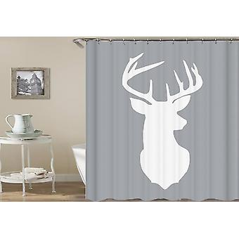 Deer Head Shape Shower Curtain