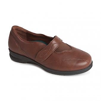 Padders كريستين السيدات الجلود سوبر واسعة (4e/6e) أحذية براون