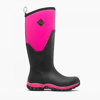 Muck Boots Arctic Sport Ii Tall Ladies Rubber Wellington Boots Black/pink