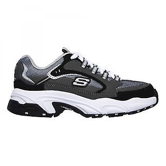 Skechers Stamina-cutback Boys Trainers Charcoal/black