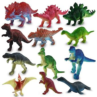 Set Of 12 Dinosaurs Plastic Dinosaurs Assorted Figures 7 Cm - Realistic Toys Gift Set For Children And Collectors