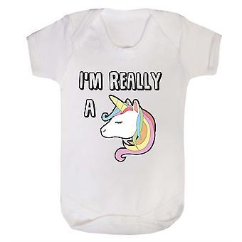 Je suis vraiment une licorne babygrow
