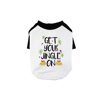 Obtenez votre Jingle sur Funny BKWT Pets Baseball Shirt X-mas Cadeau