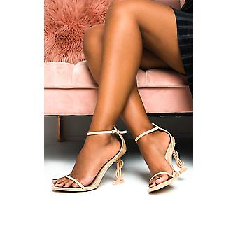 IKRUSH Womens Arla Barely There Statement Dollar Heels