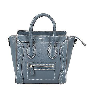 Celine Nano Luggage Dark Blue Calfskin Leather Bag