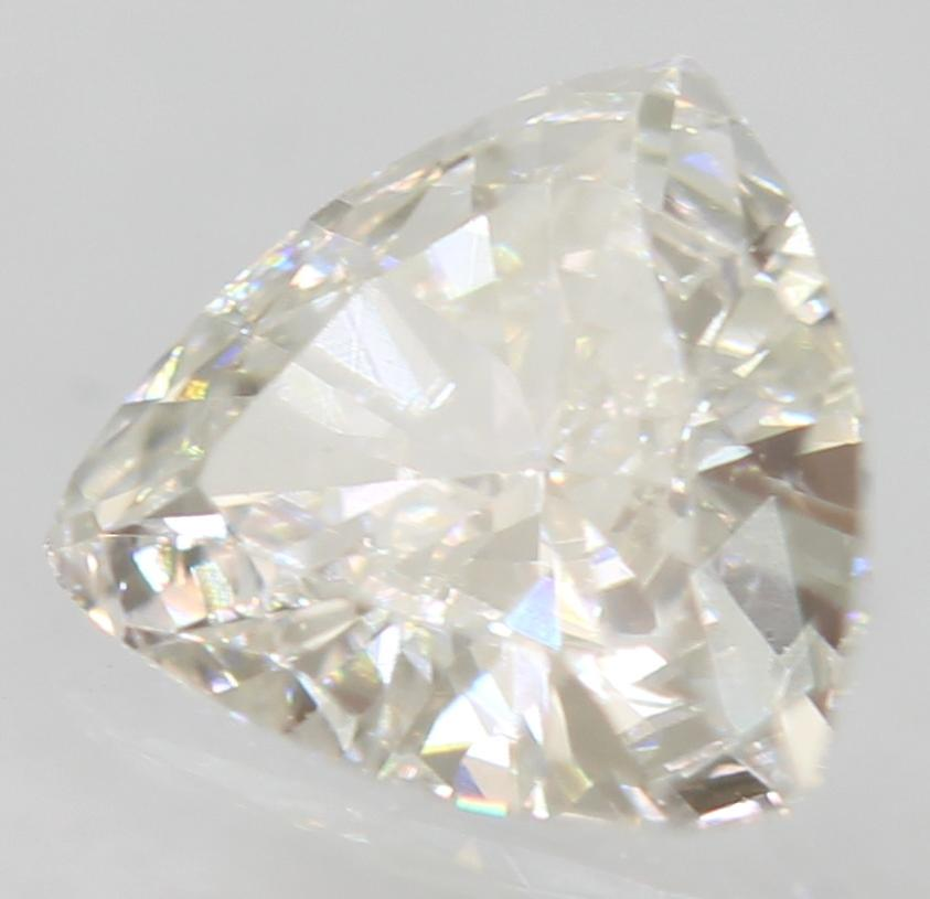 Certified 0.27 Carat F VVS2 Triangle Natural Loose Diamond For Ring 5.07x4.67mm