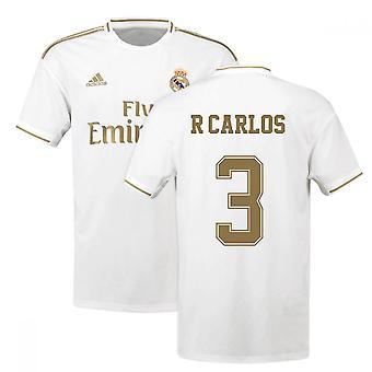 2019-2020 Real Madrid Adidas Home Fußball Trikot (R CARLOS 3)