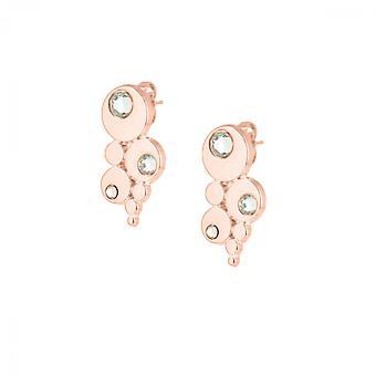 Boucles d'oreilles Les Interchangeables A59118   - Bulle Strasse Dor� Rose