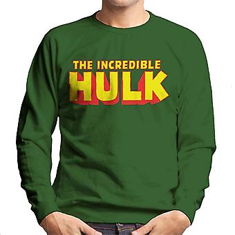 Marvel Avengers The Incredible Hulk Yellow Men's Sweatshirt