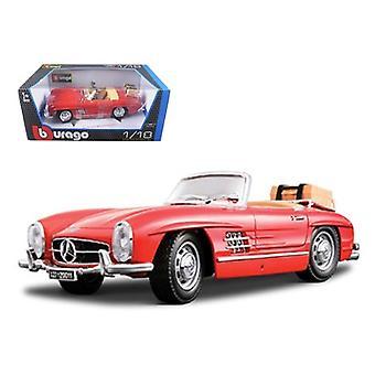 1957 Mercedes 300Sl Touring Convertible Rojo 1/18 Diecast Modelo Coche Por Bburago