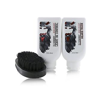 Devil's Delight Beard Envy Kit: 1x Beard Wash 88ml + 1x Leave-in Control 88ml + 1x Beard Brush - 3pcs