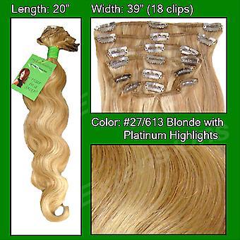 #27/613 blondi w/Platinum Koho kohtia-20 tuuman Body Wave