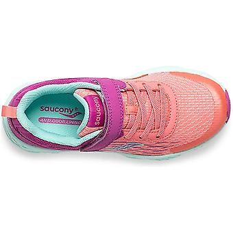 Kids Saucony Girls SK261816 Canvas Low Top Lace Up Running Sneaker