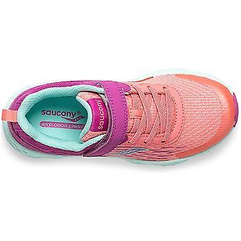 الأطفال Saucony الفتيات SK261816 قماش منخفضة أعلى الدانتيل حتى تشغيل حذاء رياضي