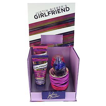 Petite amie 3 pc coffret pour les femmes par justin bieber 3.4 oz eau de parfum vaporisateur