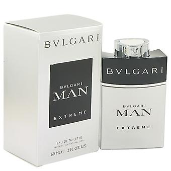 Bvlgari Man Extreme door Bvlgari Eau De Toilette Spray 2 oz/60 ml (mannen)