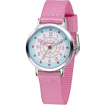JACQUES FAREL Kids Wristwatch Analog Quartz Girl Textile Ribbon COP 04 Pink