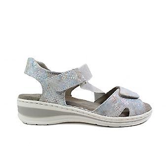 Ara Korfu 56512-06 Silver Leather Womens Rip Tape Sandals