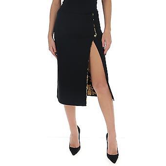 Versace A85858a233374a1008 Women's Black Viscose Skirt