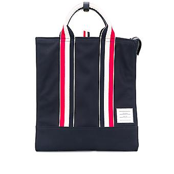 Thom Browne Mag170a05390415 Hombres's Tela Azul Tote