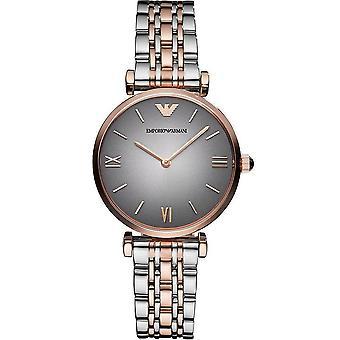 Emporio Armani Ladies' Watch - AR1725 - Grey/Steel/Rose Gold