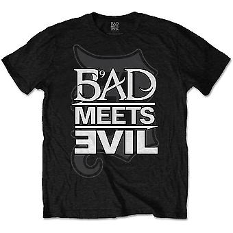 Eminem Slim Shady Bad Meets Evil Logo Official Tee T-Shirt Mens Unisex