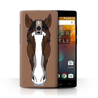 STUFF4 Дело/крышка для OnePlus 2/2/лошади/животного сталкивается