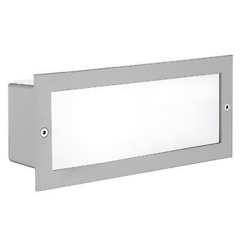 Eglo Zimba - 1 luz de pared empotrada al aire libre plata IP44 - EG88008