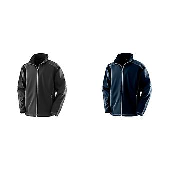 Result Work-Guard Mens Treble Stitch Soft Shell Jacket
